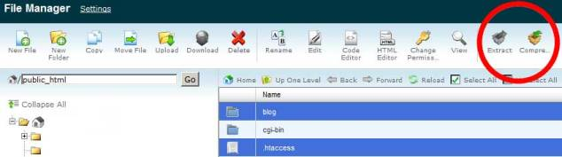 cpanel-zip-unzip-file-manager